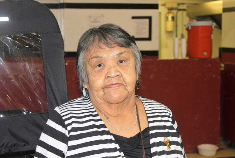 Gertie Walkus is part of the Elders' Selection Committee, which reviews art submissions by community members for Kwa'lilas Hotel.
