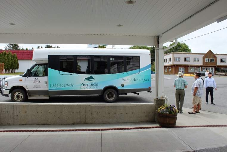 A new k'awat'si Tours mini coach can drive up to 20 passengers to their different tours.