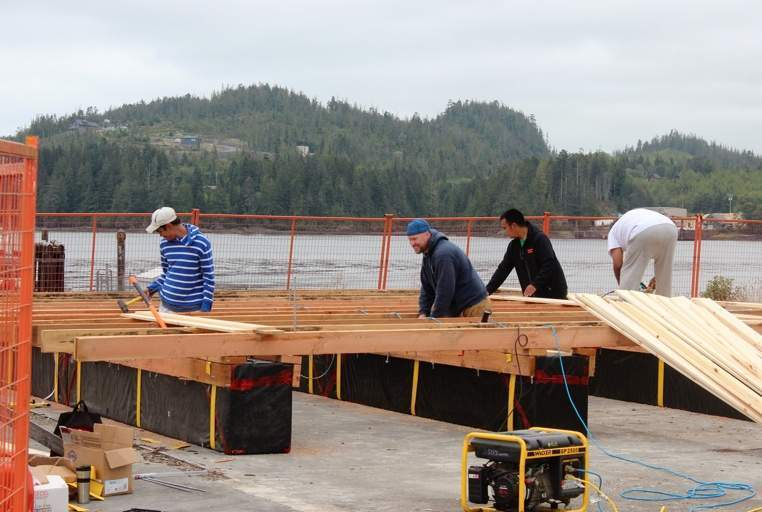 KEDC's aquaculture team builds more rafts to host the new oyster and scallop seed arriving this month.